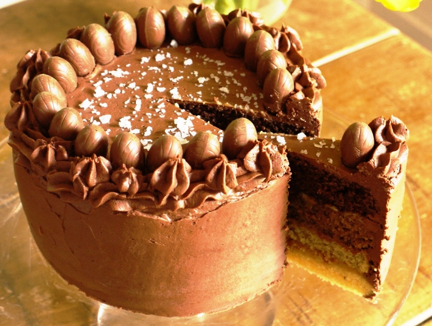 chocolate layer cake with mocha milk chocolate frosting chocolate ...
