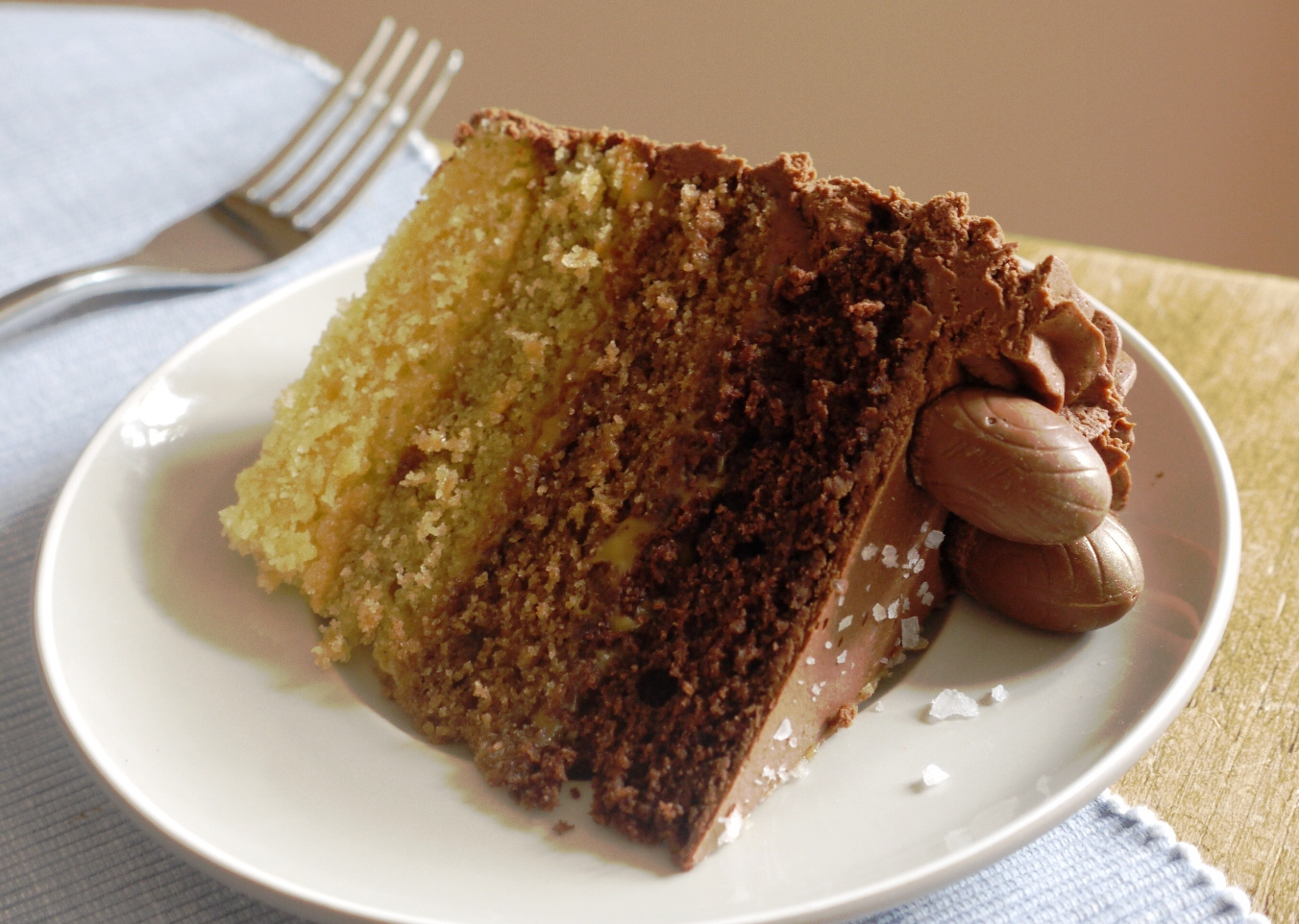 Chocolate & Caramel Layer Cake (adapted from the BBC Good Food website ...