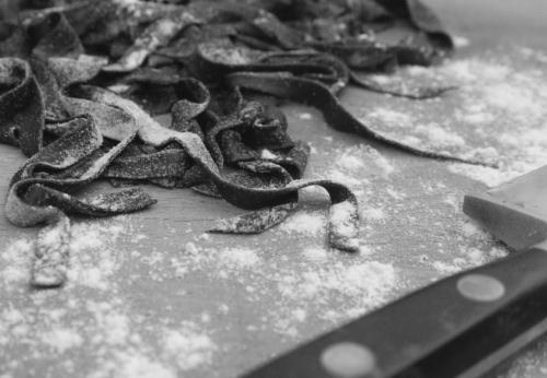 Squid Ink Pasta / thelittleloaf