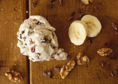 Banana, Cocoa Nib & Toasted Maple Walnut Ice Cream