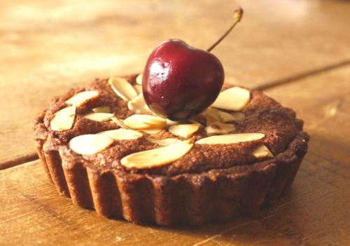 Chocolate Cherry Frangipane Tarts