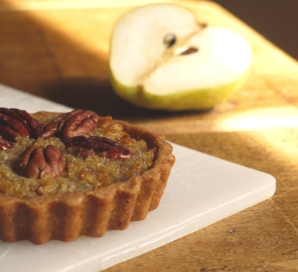 Maple Pear Pecan Treacle Tarts Thelittleloaf