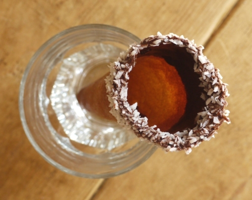 Chocolate Coconut Ice Cream Cones