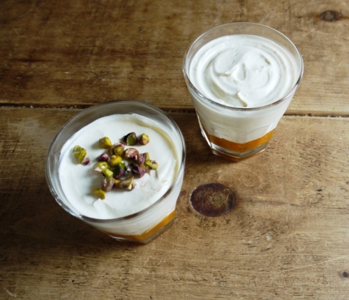 Honeyed Yoghurt Mousse with Thyme Apricot Compote