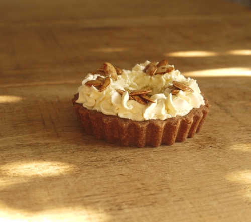 Maple Pumpkin Pie, Wholemeal Spelt Crust